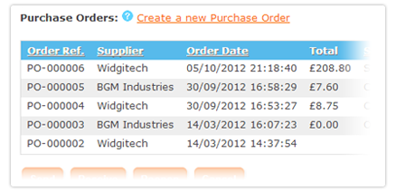 View Purchase Orders